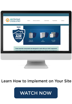 How To Put Aprilaire Content on Your Website